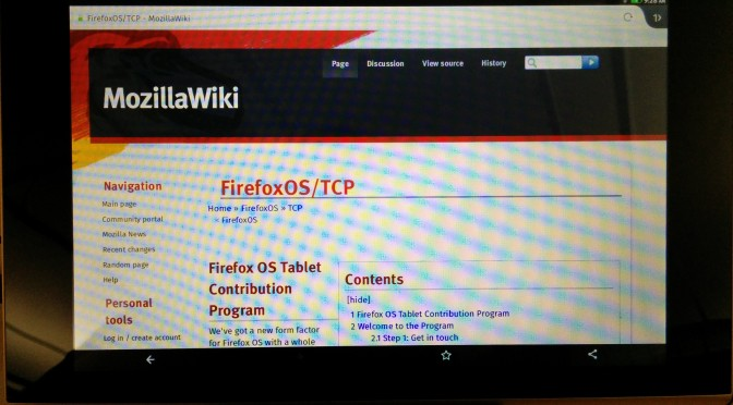 FirefoxOS test tablet!